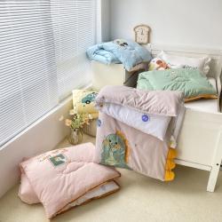 (总)双面绣花幼儿园冬被仿鹅绒儿童春秋被宝宝午睡保暖被芯