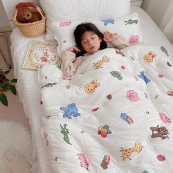 (总)2021新款A类针织棉儿童被子学生夏被春秋被冬被夏凉被