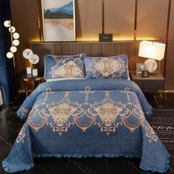 (总)天乐家纺 2021新款水晶绒床盖多功能盖毯