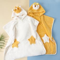 (总)ins卡通儿童浴巾高克重纳米吸水毛巾速干斗篷