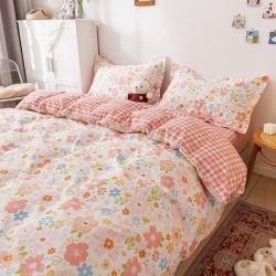 热卖爆款13372小清新全棉纯棉四件套床单被套三件套定做定制