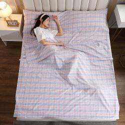 (总)初舍 2021新款全棉色织水洗棉隔脏睡袋