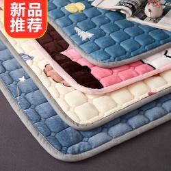 总眠势力2021新款法莱绒床垫法兰绒垫子珊瑚绒床褥软垫可机洗
