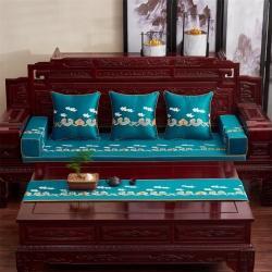 (总)恋之轩 2021新款中式红木高精密绣花沙发垫