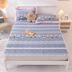 (总)美达家纺 新款全棉夹棉防滑可机洗床盖床垫床垫直边软席款