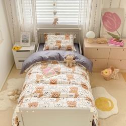 具小象的枕头店新款儿童三件套A类60S长绒棉夏朵系列帕丁顿熊