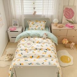 具小象的枕头店新款儿童三件套A类60S长绒棉夏朵系列 樱桃熊