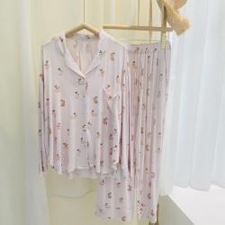 路亚 2021新款兔子开衫睡衣 粉色
