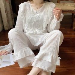 (总)路亚 2021新款宫廷刺绣睡衣