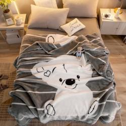 (总)思腾 2021拉舍尔印花毛毯子盖毯午睡毯