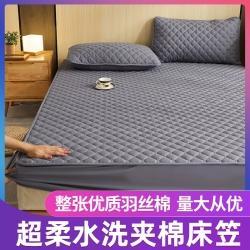总 2021夹棉床笠三件套加厚透气床罩套宿舍床垫套防尘罩全包
