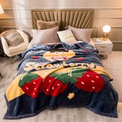 (总)金奇达 2021新款大版卡通拉舍尔毛毯