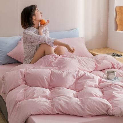 (总)简煦 2021新款针织印染纯色套件-被套+枕套