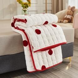 (总)欧邦家纺 2021新款牛奶绒法莱绒夹棉床垫