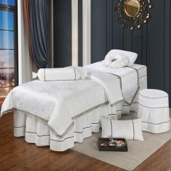 美容床罩四件套全棉欧式高档美容床罩美容院专用理疗按摩纯棉床罩