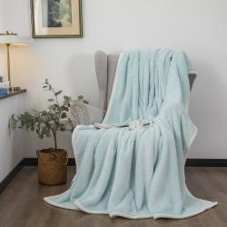 爆米花 2021新款高品质280g加厚珊瑚绒牛奶绒毛毯 幸运绿