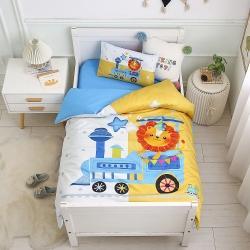 (总)芭伯妮2021A类活性数码纯棉儿童幼儿园被子三件套套件
