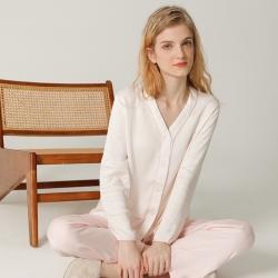 纽约生活2021新款贡缎V领气质女神款睡衣 果粉