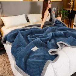 (总)爱思凯2021款北欧时尚复合毯双层毯三层毯毛毯夹棉毯子
