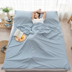 (总)乐童家纺 2021新款全棉色织水洗棉隔脏睡袋