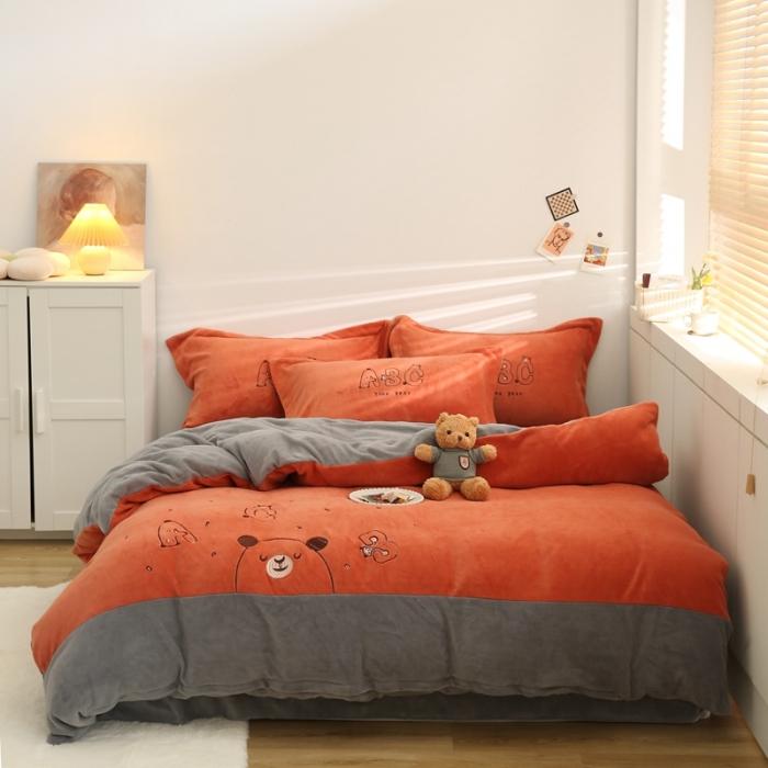 字母熊-甜蜜橙