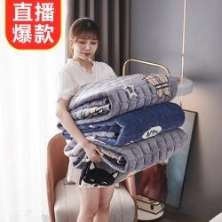 总眠势力 2021牛奶绒床笠金貂法莱绒床垫保护套加厚夹棉床笠