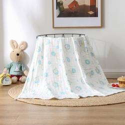 总-雅绅阁 新款婴儿纱布浴巾纯棉吸水儿童澡巾宝宝盖毯毛巾被子
