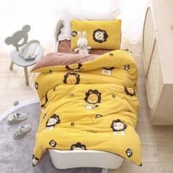 (总)A类牛奶绒幼儿园被子三件套儿童宝宝午睡套件含芯六件套