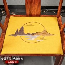 (总)南雅席业 新款棉麻刺绣中式椅垫坐垫沙发垫