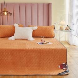 (总)瑞贝特 新正宗230克重牛奶绒乳胶床垫子床笠床单三件套
