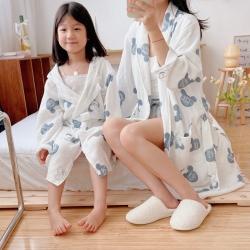 吖噢 2021新款亲子系列家居服浴袍睡衣 米奇