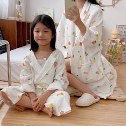 吖噢 2021新款亲子系列家居服浴袍睡衣 水果