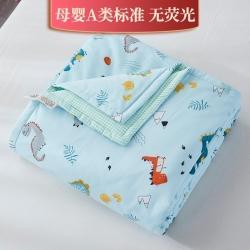 新款精梳棉夹棉被套毯四季被春秋被冬被幼儿园被子被芯恐龙乐园兰