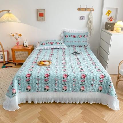 吾欢心 2021新款仙女款牛奶绒保暖床盖三件套 浪漫玫瑰