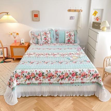 吾欢心 2021新款仙女款牛奶绒保暖床盖三件套 悠悠花语
