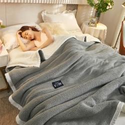 (总)晨曦家纺 2021新款双层羊羔绒毛毯加厚法莱绒毯子