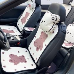 (总)麦柚家纺 2021新款绒款汽车坐垫七件套