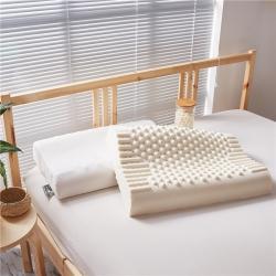 (总)美然家纺 2021新款高低颗粒按摩乳胶枕