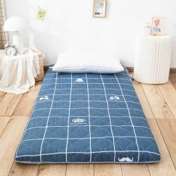 防水防潮榻榻米床垫软垫折叠地铺睡垫懒人床地垫家用垫子白胡子
