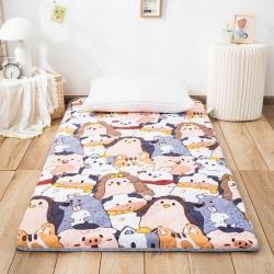 防水防潮榻榻米床垫软垫折叠地铺睡垫懒人床地垫家用垫子动物狂欢