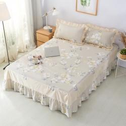 :爱妮玖玖 单品床罩类1-1:全棉普款花卉单层床罩