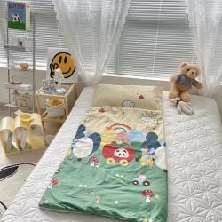 妙芙家居 2021新款全棉大版豆豆绒儿童睡袋 苹果玩具车