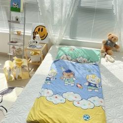 妙芙家居 2021新款全棉大版豆豆绒儿童睡袋 太空熊