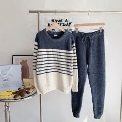 (总)纽约生活  2021新款男士条纹两色睡衣