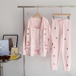 (总)纽约生活  2021新款樱桃三件套两色睡衣