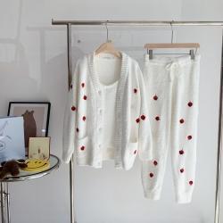 (总)纽约生活  2021新款草莓三件套两色睡衣