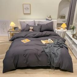 虹达 2021新款磨毛纯色面料床上四件套面料