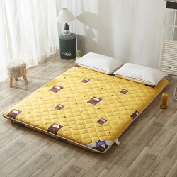 米帛床垫双面绗绣全棉加厚床垫简居