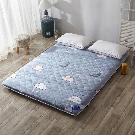 米帛床垫双面绗绣全棉加厚床垫星云