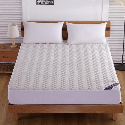 (总)米帛床垫 空气层针织棉夹棉床笠